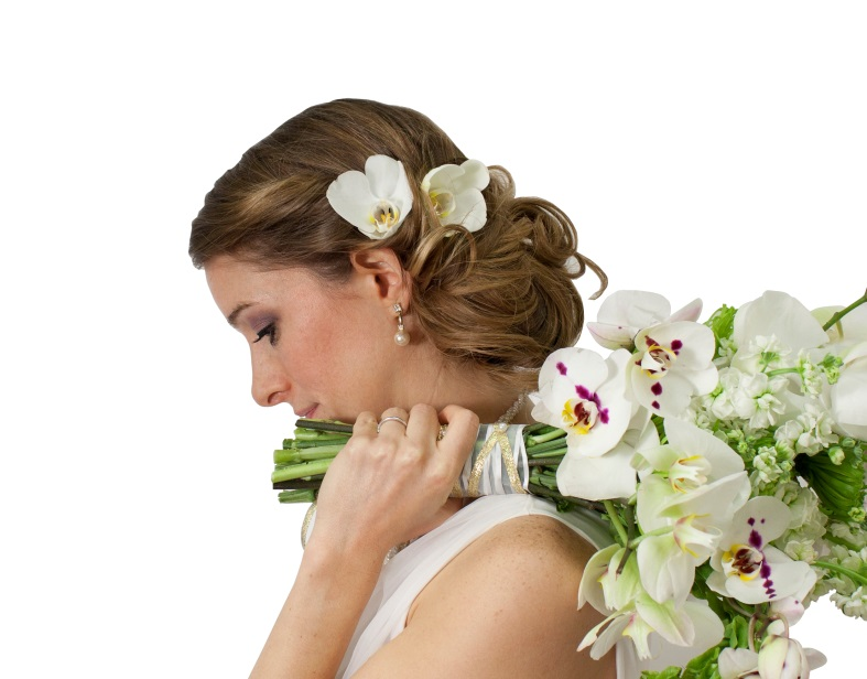 Here Comes the Bride … and Her Orchids