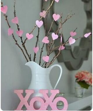 heart branches orchid centerpiece