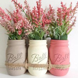 painted mason jar vases.jpg