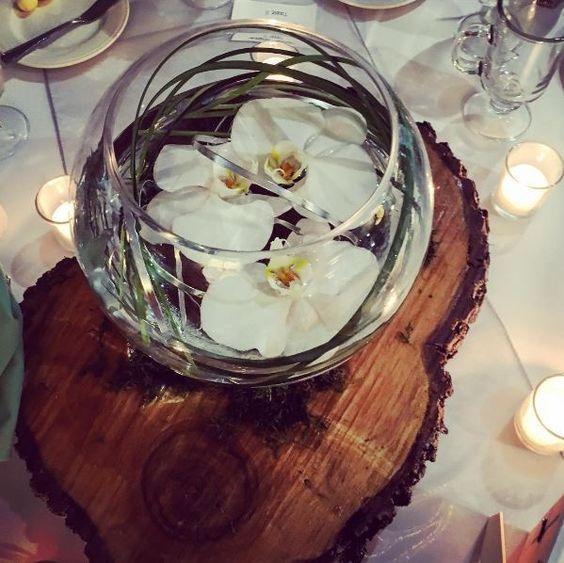 wedding floating orchid vase