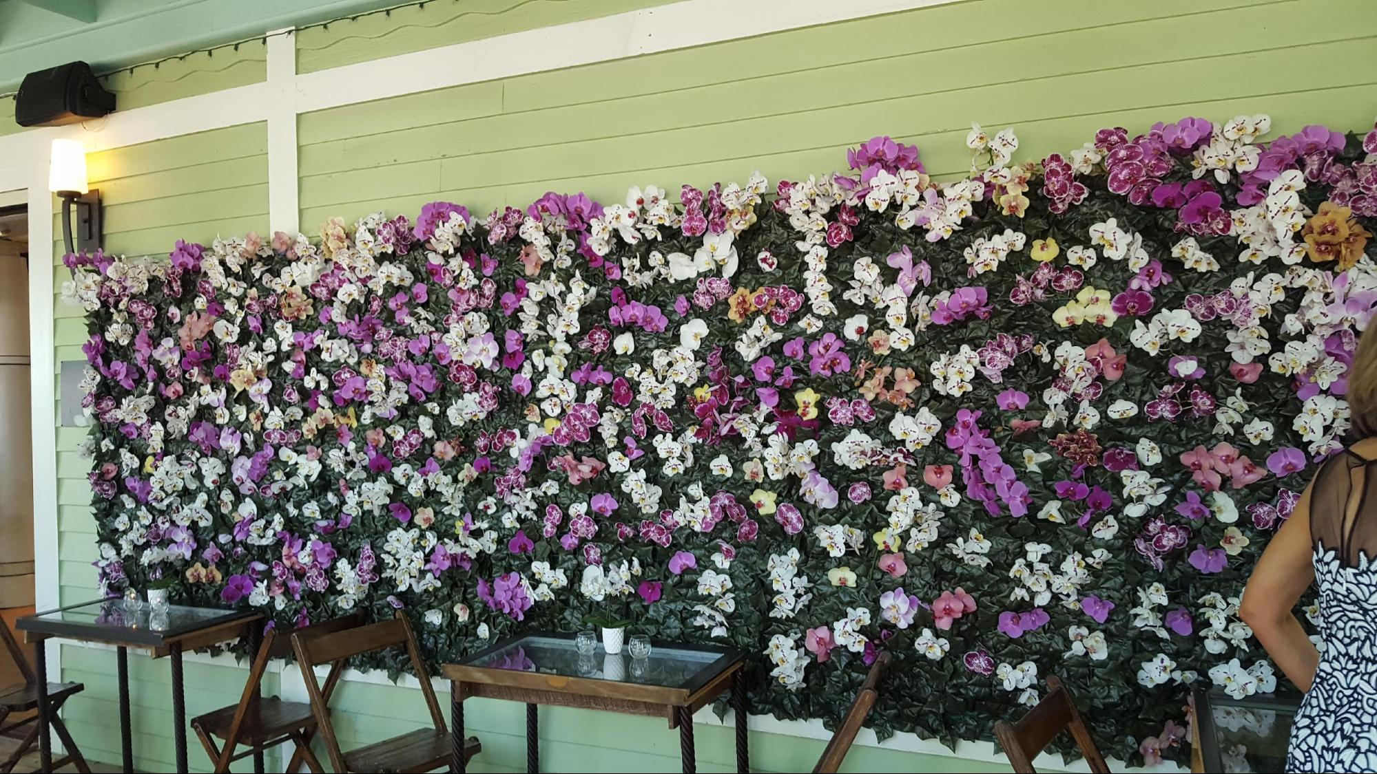 wedding orchid wall